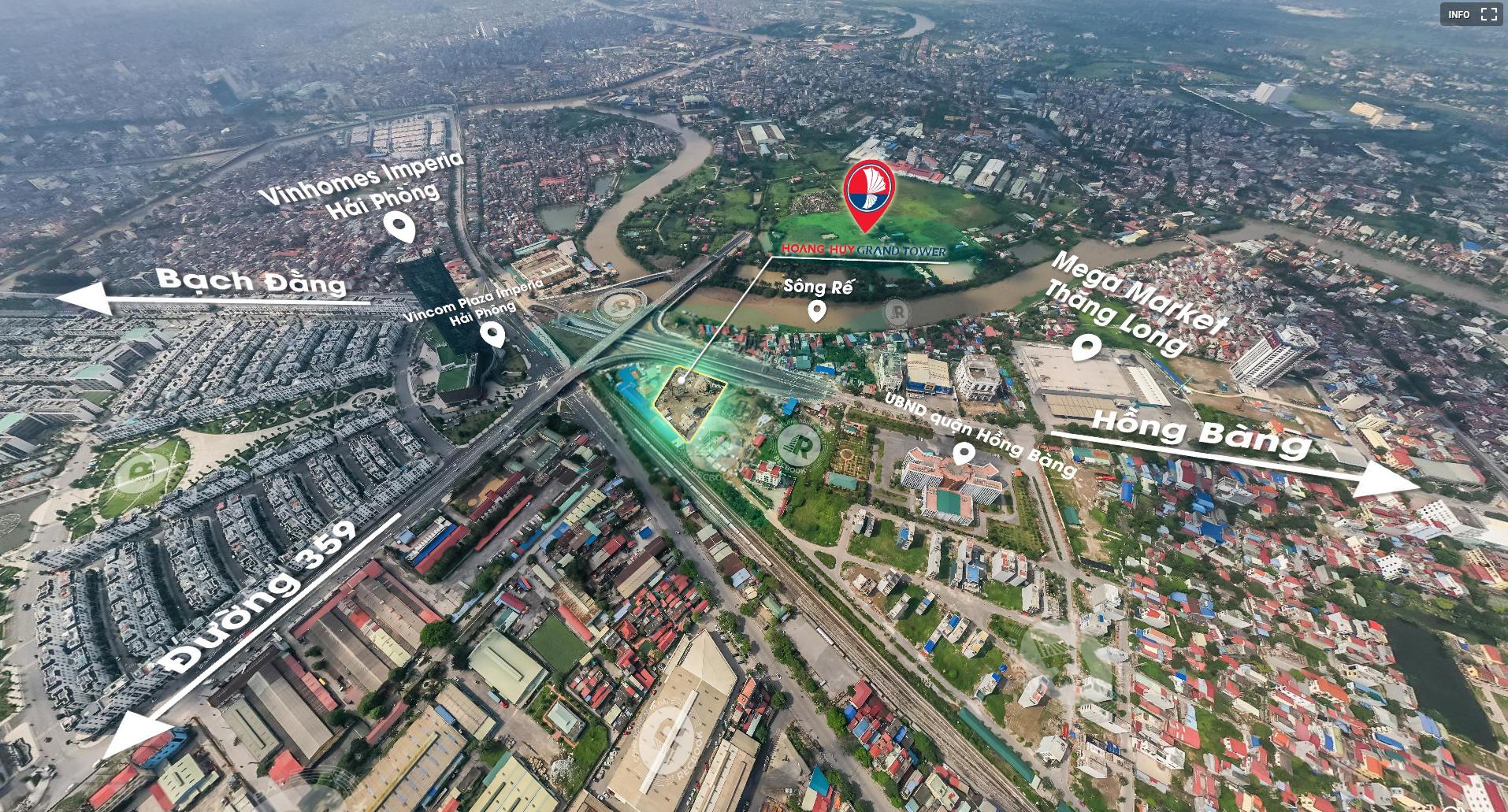 Tâm điểm kết nối giao thông của Hoàng Huy Grand Tower