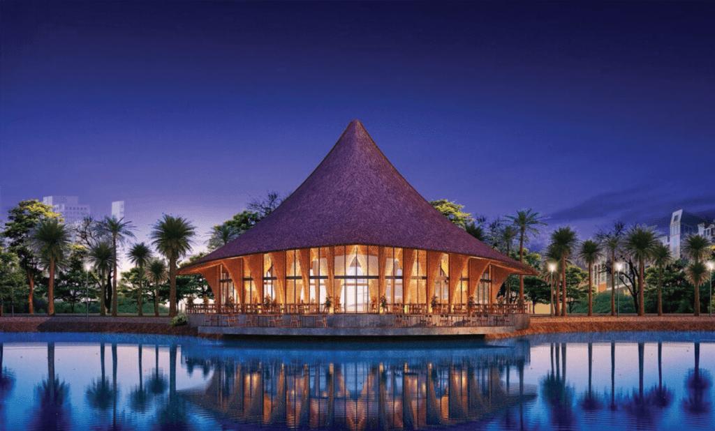 Palm Cafe với kiến trúc độc đáo, sang trọng