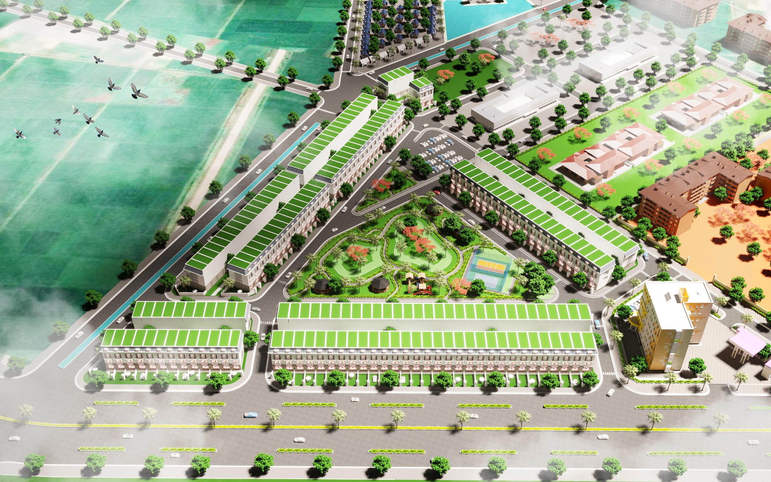 Phối cảnh tổng thể dự án An Bình Golden Town
