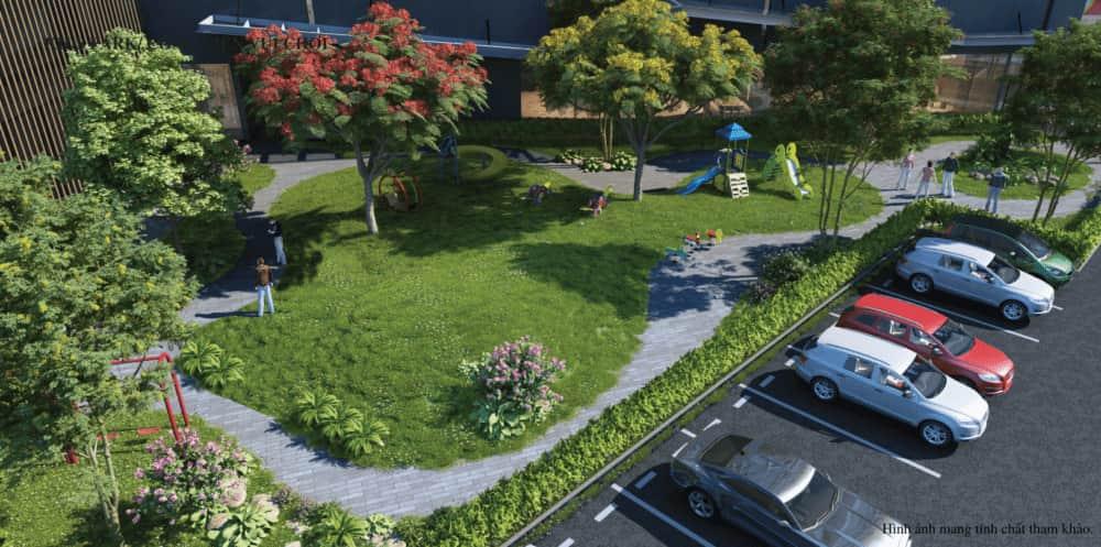 Bãi đỗ xe khu dân cư