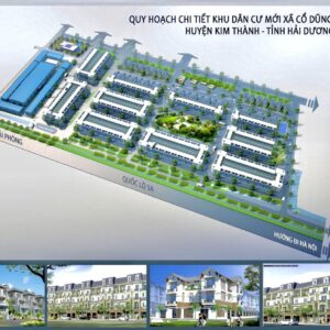 Phối cảnh tổng thể khu dân cư mới Cổ Dũng - Huyện Kim Thành, Hải Dương