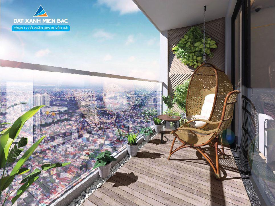 View thành phố nhìn từ logia căn hộ