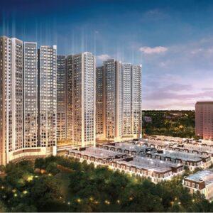 Phối cảnh tổng thể Hoàng Huy Commerce và Mall
