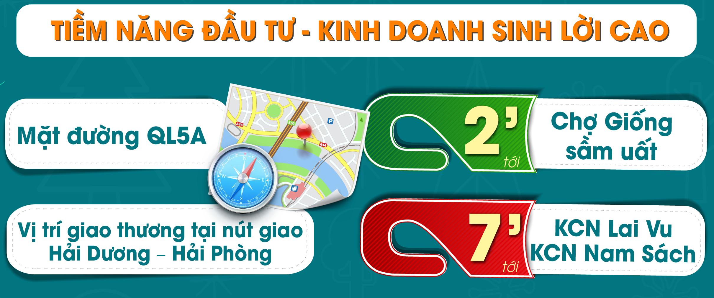 Liên kết vùng thuận tiện của khu dân cư mới Cổ Dũng - huyện Kim Thành, Hải Dương
